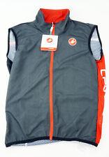 Castelli Pro Light Wind Vest Men's Medium Sleeveless Black Red Cycling