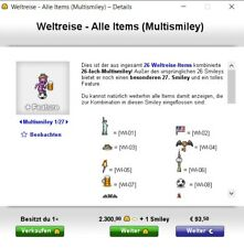 +31 Weltreise - Alle Items Knuddels.de Smiley