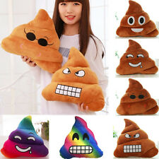 Amusant Emoji Emoticône farcies oreiller Caca forme peluche douce coussin jouets
