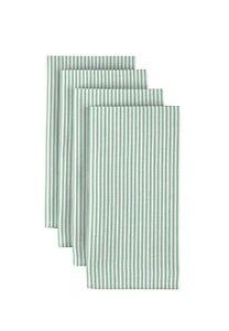 """Pinstripes Celadon Polyester 18"""" x 18"""" Napkins 1 Dozen"""