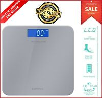Etekcity 400lb LCD Digital Bathroom Body Weight Scale Tempered Glass BMI Muscle