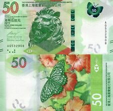 HONG KONG 50 Dollars Banknote World Paper Money UNC Currency Pick pNEW 2018