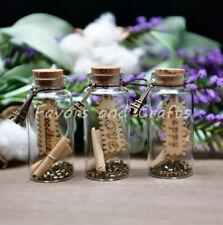 Paris Glass Mini Bottles Cork Wedding Favors Destination Beach Gifts Boda 12pc