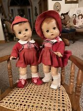 "ANTIQUE EFFANBEE TWIN 13"" CANDY KID DOLLS..BOY & GIRL"
