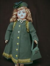 """Green Dress, Coat, Beret and more for 28-29"""" Antique Bisque Head Doll – DC6"""