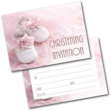 buy baby girl christening invitations ebay