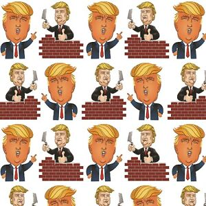 Birthday Wrapping Paper Novelty,Funny Donald Trump Large Sheet Of Gift Wrap