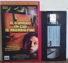VHS FILM Ita Horror IL GIORNO IN CUI IL MONDO FINI'kinski ex nolo no dvd(VH29).