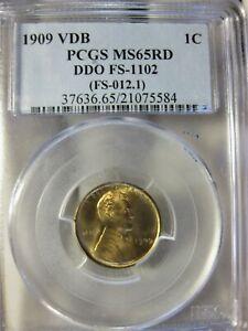 1909 VDB DDO Pcgs Certified MS 65 Red