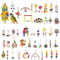 Parrot Toys Pets Bird Chew Bite Climb Swing Bells Hanging Cage Toy Pet DIY Gift
