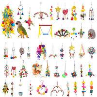 Pappagallo Giocattoli Animali Uccello da Masticare Morso Salire Swing Bells Cage