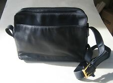 VTG Giani Bernini Navy GENUINE LEATHER MESSENGER/ORGANIZER SHOULDER BAG Purse