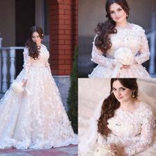 2019 Vestidos De Novia Lace Wedding Dresses Long Sleeve Bridal Gowns Plus Size
