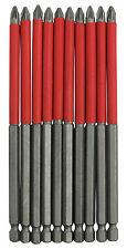 """10pc 150mm 6"""" pouces antidérapante pz2 tournevis pozi drill bit set pour outil électrique"""