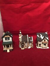 Heritage Hamlet Collection Hand Painted 3 Piece Village Set