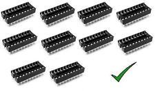 10pz zoccoli 20 pin per circuiti integrati 10+10 pin DIL passo 2,54mm
