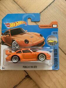 Hot Wheels Porsche 993 GT2 Factory Fresh 10/10 Short Card 2017 Orange