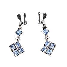 S239 ~ Sterling Silver and Swarovski Dangle Earrings
