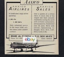 AAXICO AIRLINES MIAMIFLORIDA DC 4S 6AS CARGO AIRLINE