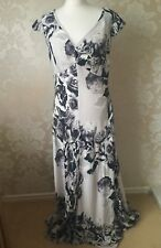 MARKS AND SPENCER LADIES BLACK WHITE FLORAL MAXI DRESS SIZE 12 BNWT NEW