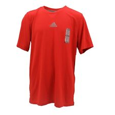 Adidas Climalite Performance Apparel Kids Youth Size Red Athletic Shirt New Tags