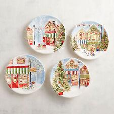 PIER 1 Vintage Victorian Style Christmas Village SALAD DESSERT PLATES SET 4 BOX & Victorian China \u0026 Dinnerware | eBay