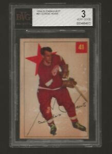 1954 Parkhurst #41 Gordie Howe BGS BVG 3 VERY GOOD OLD CARD OF THE HALL OF FAMER