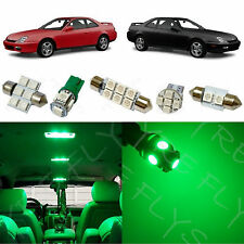 8x Green LED lights interior package kit for 1997-2001 Honda Prelude HL1G
