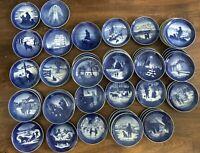 Royal Copenhagen Christmas porcelain white blue plate 1926-1997 Large Collection