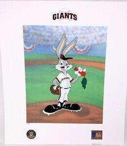 Looney Tunes McKimson GIANTS Warner Bugs Bunny Now Pitching BASEBALL Litho P/P