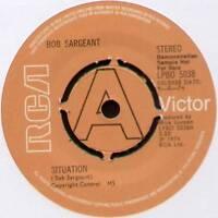 "(MICK RONSON) BOB SARGEANT ~ SITUATION / WAITING GAME ~ 1974 UK ""DEMO"" 7"" SINGLE"