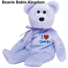 TY BEANIE BABIE * GEORGIA * I LOVE GEORGIA TEDDY BEAR STATE EXCLUSIVE