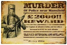 NED KELLY 'REWARD' Poster RUSTIC TIN SIGN 30 X 45 cm