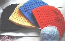 Mesh Beanie Hand Crochet Hat Skull Cap Custom XS-XL Fishnet Handmade Acrylic