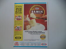 advertising Pubblicità 1965 FORMAGGIO CREMA RAMEK KRAFT