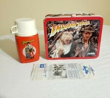 1984 Indiana Jones Original Metal Lunchbox & Thermos with tags