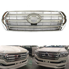 Fit For Toyota Land Cruiser LC200 2016 Front Chrome Silvery Grille Grill Overlay