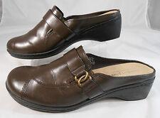 b8977c4abae40b Predictions Comfort Plus Womens Size 10 Chocolate Brown Wedge Heel Mules