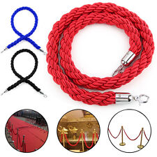 1.5m Twisted Queue Barrier Rope Red Black Blue for Posts Stands Display