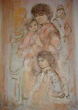 Valerie & Children   Artists Proof  Lithograph by Edna Hibel (2014)