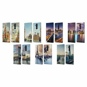 HEAD CASE CITY SKYLINES LEATHER BOOK CASE FOR MICROSOFT NOKIA PHONES