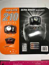 GO-Lite Ultra luminosa Torcia da Testa proiettori Twin Pack 210 LM