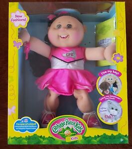 """Cabbage Patch Kids Lenore Hermione November 15th 14"""" 35 cm Doll Girl Brown Hair"""