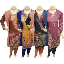 Pakistani Indian Printed Linen Suit Dress, Casual Stitched Shalwar Kameez Salwar