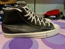 Converse all star Ct Premium Post high tops Black Leather uk10