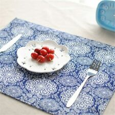 Table Mats Tableware Mats Pads New Tie-dyed Cotton Cloth Placemat Double Mats