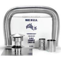 """WESTAFLEX 9504 Chimney Liner Kit,4"""" Dia.,25 ft. L"""