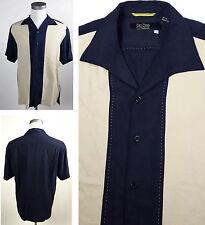 Nat Nast Luxury Originals Med Silk Striped Hawaiian Casual Shirt Oversized Btns