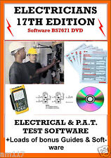 Electrical & Pat Testing Certificates Software 17th Edition EICR 3rd Amendment