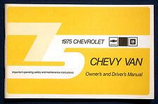 Owner's Manual * Betriebsanleitung 1975 Chevrolet Chevy Van (USA)